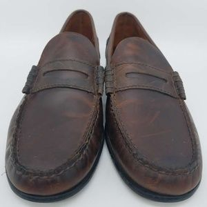 Florsheim Brown Leather Penny Loafer Slip On
